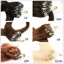 100 Strands Originea 18 to 22 Inch Straight Loop Micro Ring Human Hair Extension