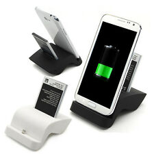 Dual Sync Battery Charger Cradle Dock Stand For Samsung Galaxy NOTE 2 N7100 USA