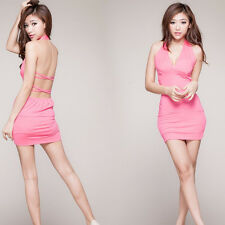 2016 woman Cross back Backless evening dress Tight pole dancing WY141G