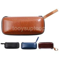 Crush Resistant Glasses Sunglasses Eyewear Leather Hard Box Case Clam Holder New