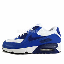 Nike Air Max 90 Mesh GS [833418-105] NSW Running White/Deep Royal Blue-Black