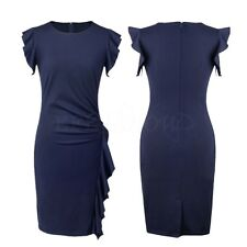 Elegant Womens Office Lady Work Evening Party Business Slim Bodycon Pencil Dress