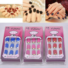 Fashion Matte False Full Finger Nails Manicure Nails Fake Nails 24PCS