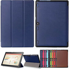 """Slim Leather Case Cover for 10.1"""" Lenovo Tab3 10 Business (TB3-X70F/N/L) Tablet"""
