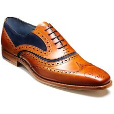 Barker McClean 382926 Cedar/ Navy Lace Up Shoes Clearance SALE