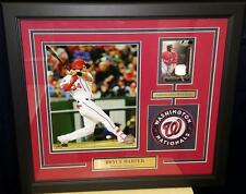 Washington Nationals Bryce Harper Framed Photo Collage with Jersey Card & Patch