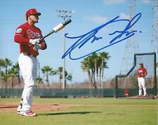 Philadelphia Phillies Jorge Alfaro Autographed Signed On Field Photo JSA PSA