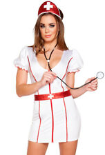 Roma white nurse hospital adult dress costume set