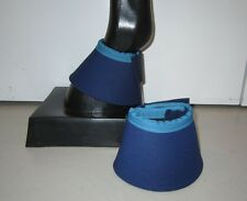 Horse Bell or Overreach Boots  Navy blue & Teal AUSTRALIAN MADE Protection