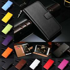 Luxury Genuine Leather Wallet Stand Flip Card Case Cover For HTC Series Model