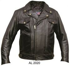 Mens  Motorcycle Jacket with vented front  back zip out liner Allots of pockets