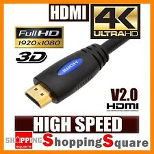 HDMI Cable v2.0 Ultra HD 4K 2160p 1080p 3D High Speed with Ethernet HEC ARC