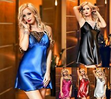 Sexy Satin Chemise Slip Ladies Nightwear 028 Plus Size Lingerie 8 - 24 Christmas