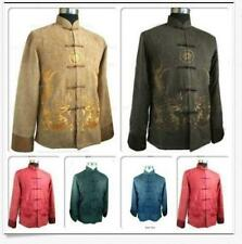 Chinese Fashion Men's Kung Fu Coat  Jacket Dress Embroidery Dragon Size M-XXXL