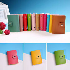 Men Women Leather Business Card Credit 24 Cards Holder Case Card Holder Wallet