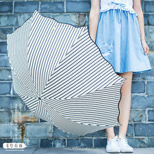 Fashion Creative Folding umbrella New Stripe Anti UV Parasol Sun Rain Umbrella