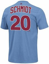 Philadelphia Phillies Mike Schmidt Majestic Official Player Name/Number T-Shirt