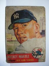 1953 TOPPS #82 MICKEY MANTLE   VERY COLLECTBLE (REPRINT  CARD)