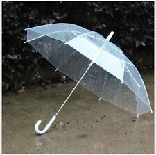 New Large Clear Dome See Through Umbrella Transparent Walking Brolly Ladies Gent