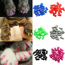 20Pcs Hot Selling Simple Soft Rubber Pet Dog Cat Kitten Paw Claw Nail Caps Cover