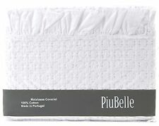 Piu Belle White Ruffle Shabby Chic Bedspread Matelasse Coverlet French Country