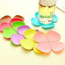 3D Flower Petal Shape Cup Coaster Tea Coffee Cup Mat Table Brand New