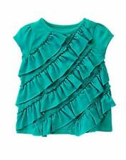 NWT Gymboree Girls Picture Day Green Ruffle Top Tee Size 12-18-24 M 2T 3T 4T 5T