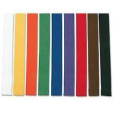 Martial Arts Belts - Karate, Taekwondo, Yellow, Orange, Green, Blue, Purple, Red