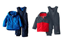 Columbia Boys Thermal Reflective/OUTGROWN Frosty Slope Jacket & Bib Set NWT