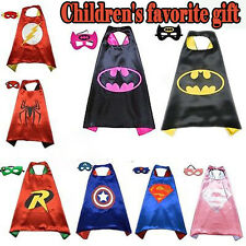 NEW Children Superhero Comic Book Hero Cape Mask Kids Costume Fancy Dress Outfit