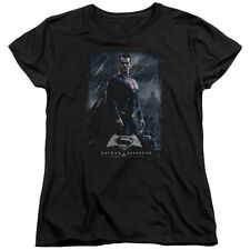 DC COMICS BATMAN VS SUPERMAN SUPER POSTER WOMENS T-SHIRT SM TO 2XL