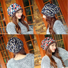 Winter Women Girls Camo Knit Warmer Hat Braided Baggy Beret Beanie Cap Hat Hot X