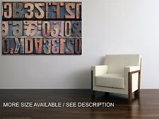 Canvas Print Picture Vintage Wooden Letters  /Stretched - ready to hang