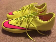 NEW Nike MERCURIAL Victory V FG Soccer VOLT Yellow/PINK Mens CLEATS Size 11.5