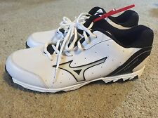 NEW MIZUNO 9 Spike Vintage 7 Switch Mens Baseball Metal Cleats White