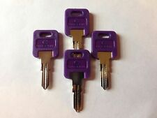 4 FIC RV PURPLE Plastic Head Key Code Cut HF301 - HF351,(CH751-Brass only