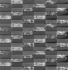 Sparkle Series BLACK Small Subway Mosaic Tiles - backsplash tile/bathroom tile