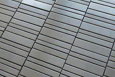 Stainless Steel Random Row Mosaic Tiles for Kitchen Backsplash/Accent Wall