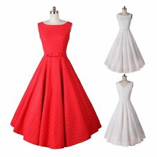 Women Vintage Style Swing Pinup Dress Summer Evening Party Sexy Ladies Dress