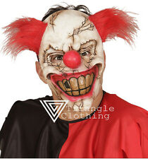 Clown Mask Killer Jester Smiling Evil Latex Circus Bank Robber Joker Halloween