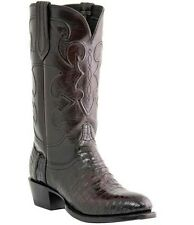 Lucchese M1637 R Toe CHARLES Mens Black Cherry Belly Crocodile Cowboy Boots
