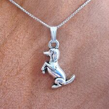 Beggin' Dachshund Silver-Plated Pendant Charm and Necklace- Free Shipping