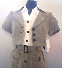$240.00 Retail *** NEW Nine West Summer Career Dress Suit Taupe 2-Piece