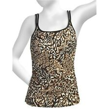 NWT Trimshaper by MIRACLESUIT TINGA AVALON Tankini Top AND Swim Skirt, BROWN