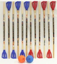 NEW D-Gel Heritage Broomball Set (12 sticks & 2 balls)
