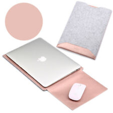 "Felt + Leather Laptop Sleeve Case Cover Bag for Apple MacBook Air 13"" Pro 13.3"""
