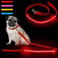 Nylon Pet Dog LED Lead Flashing Luminous Safety Light up Walking Leash 4 Colors