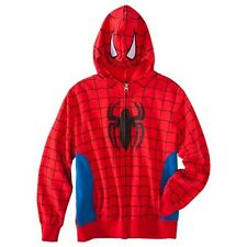 New Marvel Spiderman Zip Up Hoodie Jacket - Boys Sz XL Lge Med