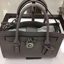 MICHAEL Michael Kors Hamilton Signature EW Satchel (Color: Pearl Grey)