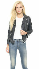 Women's Leather Jacket Slim Fit Genuine Lambskin Biker Motorcycle Jacket  WJ224